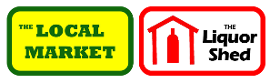 Logo, The Local Market & Liquor Shed  - Grocery Store